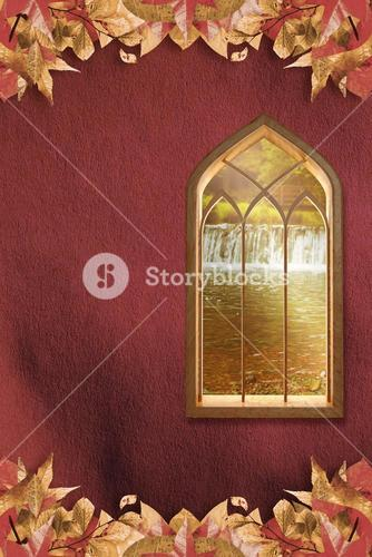 Composite image of window against white background