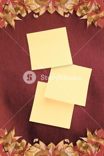 Composite image of sticky note