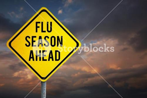 Composite image of flu season ahead