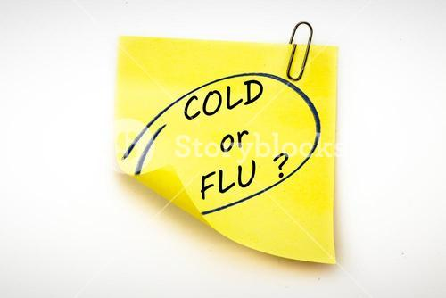 Composite image of cold or flu