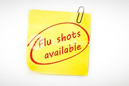 Composite image of flu shots available