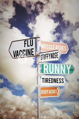 Composite image of flu shots