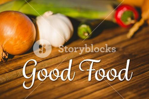 Composite image of good food