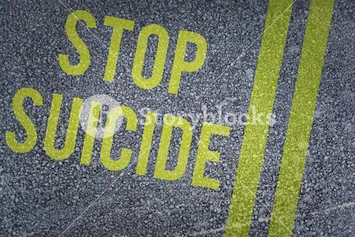 Composite image of stop suicide