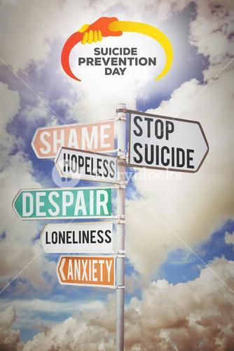 Composite image of suicide prevention day