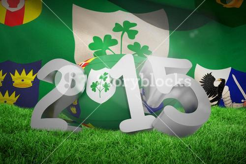 Composite image of ireland rugby 2015 message