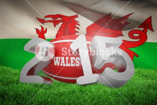 Composite image of wales rugby 2015 message