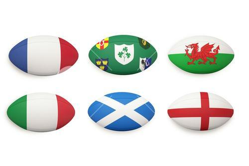 Six nations rugby balls