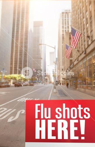 Composite image of flu shots here