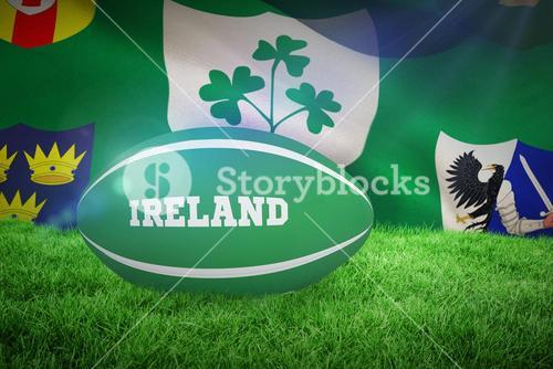 Composite image of ireland rugby ball