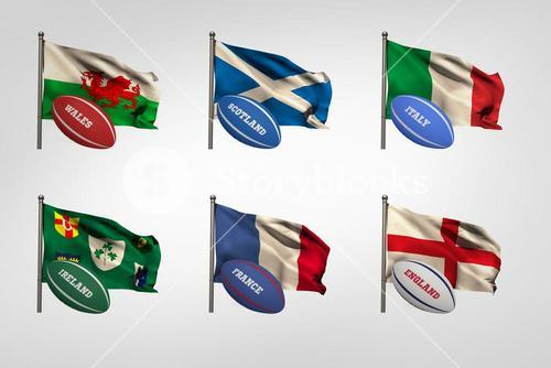 Six nations flags