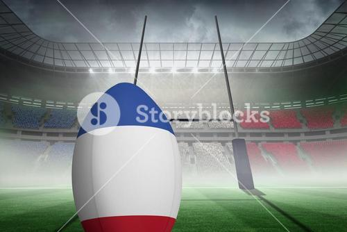 Composite image of french flag rugby
