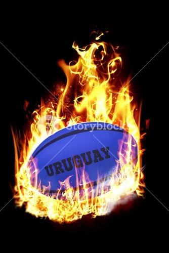 Composite image of uruguay rugby ball
