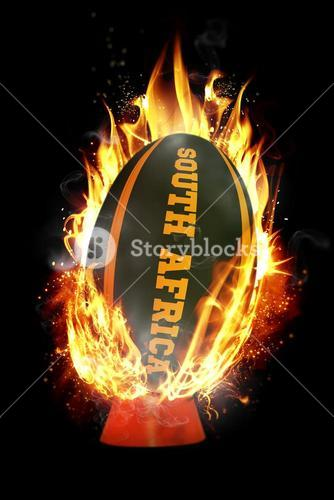 Composite image of south africa rugby ball