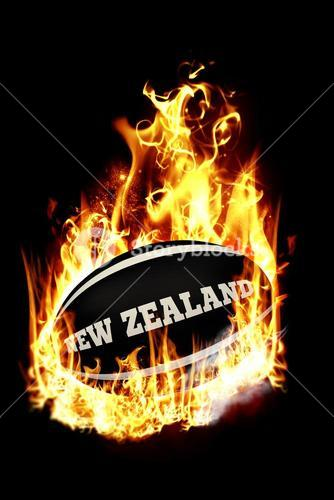 Composite image of new zealand rugby ball