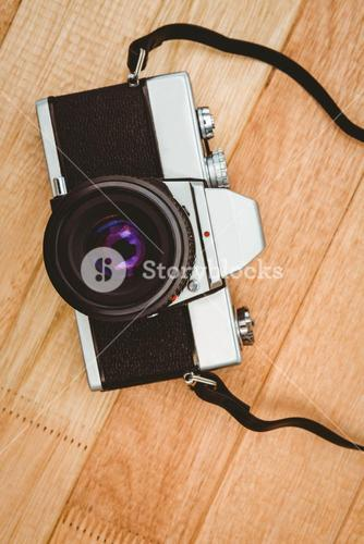 View of an old camera