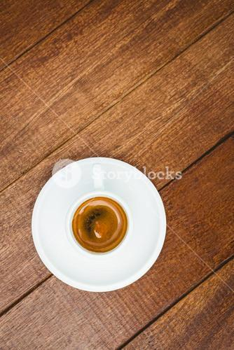 Above view of a coffee