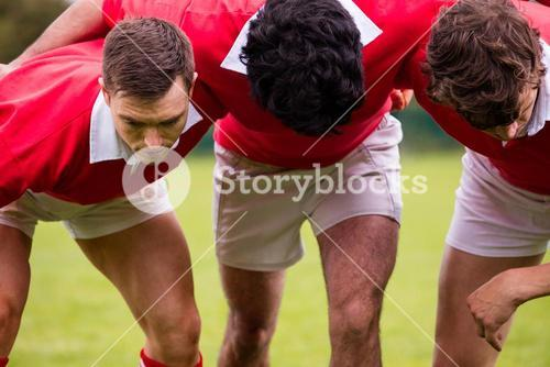 Rugby players ready to play