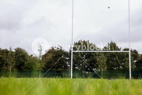 Rugby pitch with no players