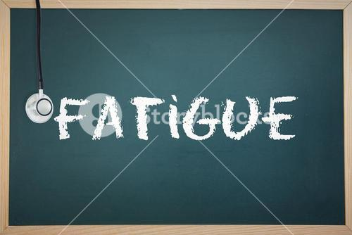 Fatigue against chalkboard