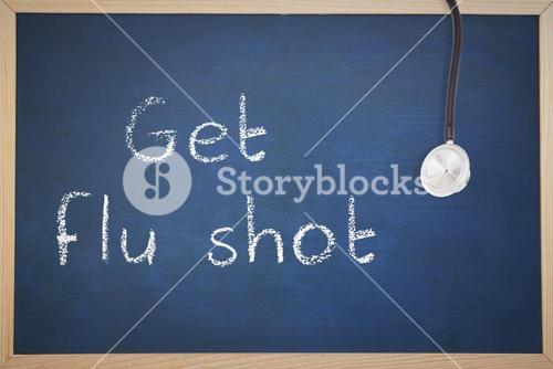 Composite image of get your flu shot