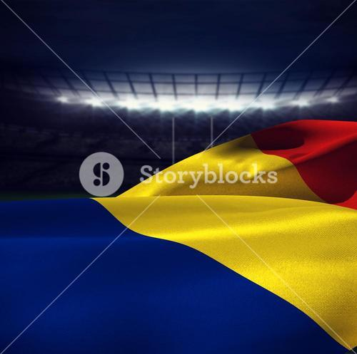 Composite image of flag of romania