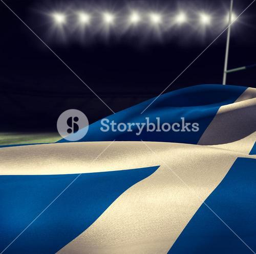 Composite image of waving scottish flag