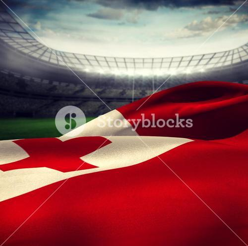 Composite image of waving tonga flag
