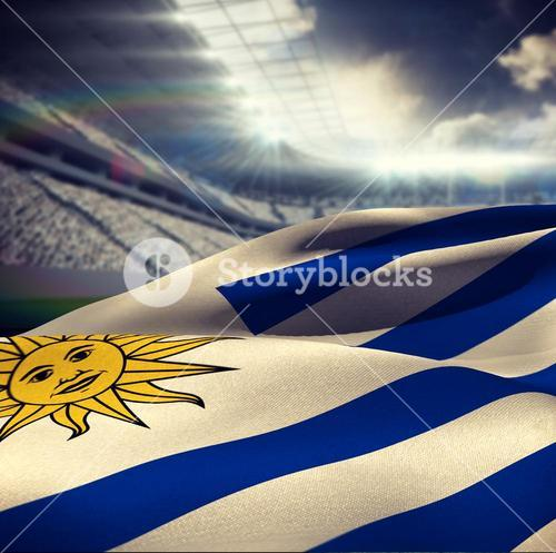 Composite image of waving uruguayan flag