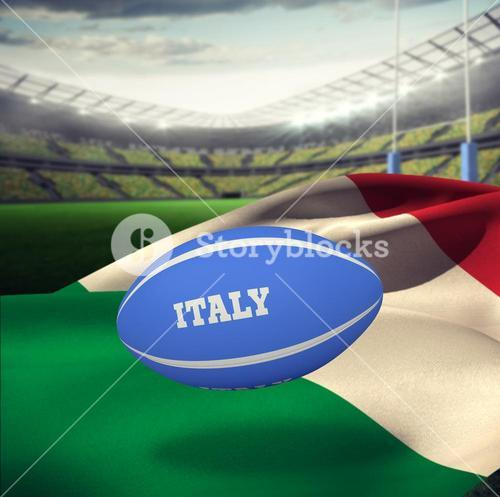 Composite image of italy rugby ball
