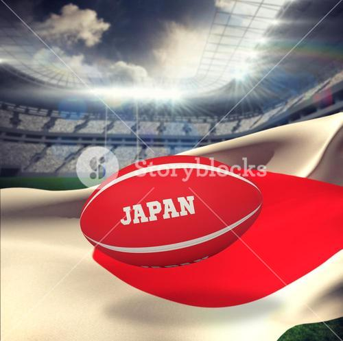 Composite image of japan rugby ball