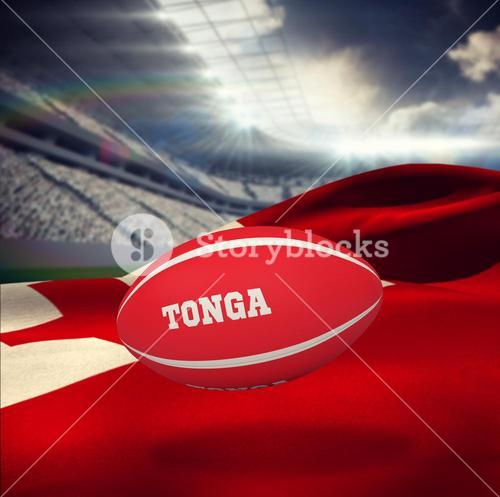 Composite image of tonga rugby ball