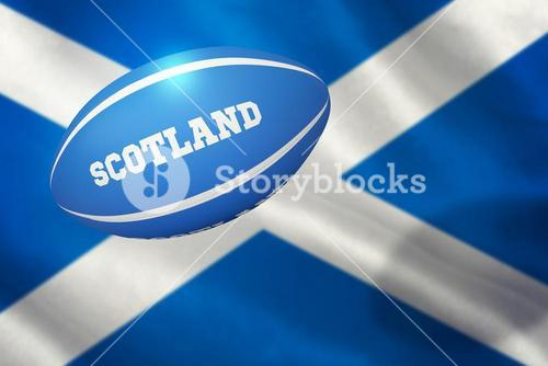 Composite image of scotland rugby ball