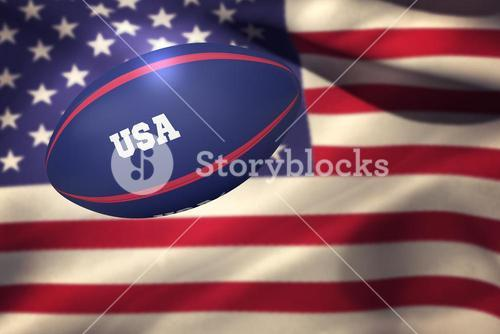 Composite image of usa rugby ball