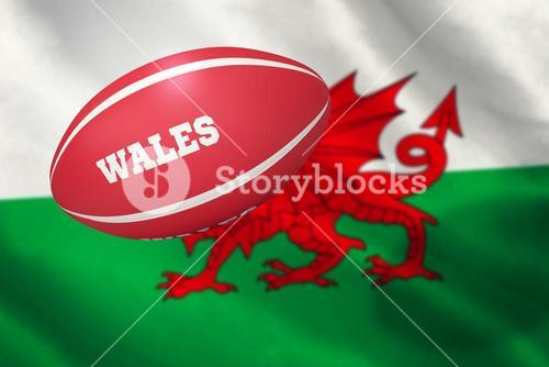 Composite image of wales rugby ball