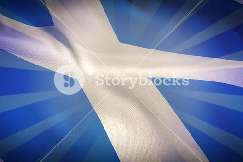 Composite image of cropped scotland flag