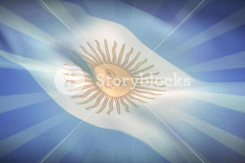 Composite image of close-up of argentina flag waving