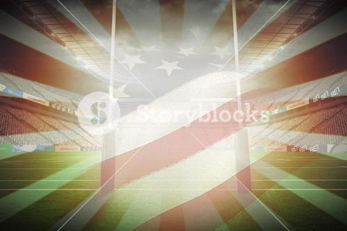 Composite image of cropped american flag