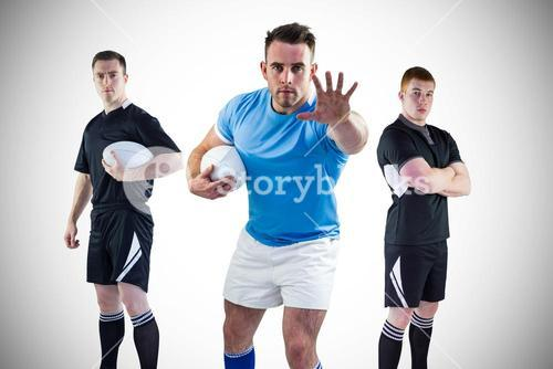 Tough rugby players