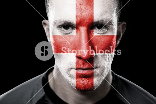 Composite image of english rugby player