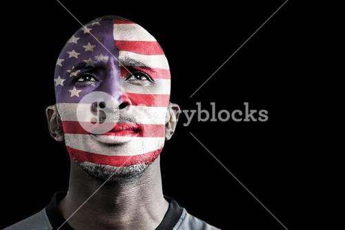 Composite image of usa rugby player