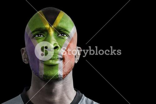 Composite image of south africa rugby player