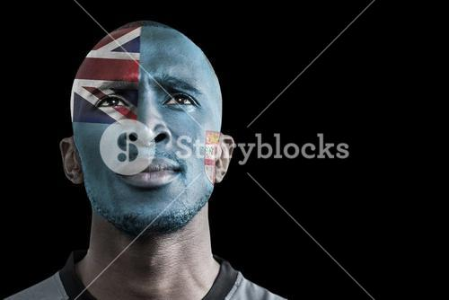 Composite image of samoa rugby player