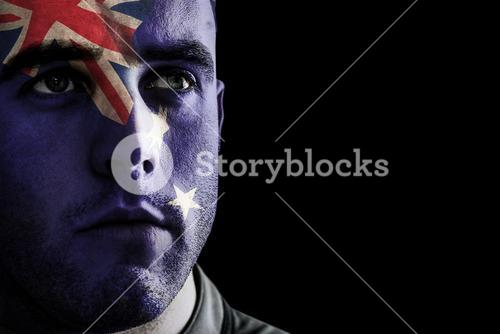 Composite image of new zealand rugby player