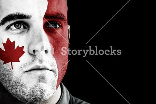 Composite image of canada rugby player