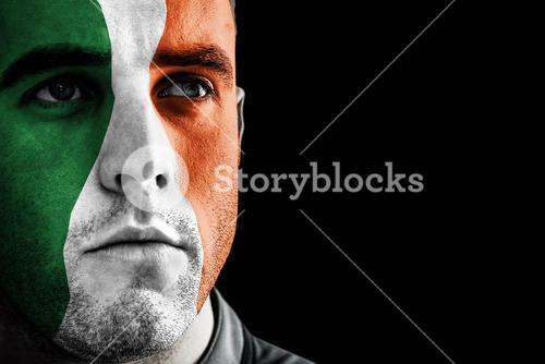 Composite image of ireland rugby player