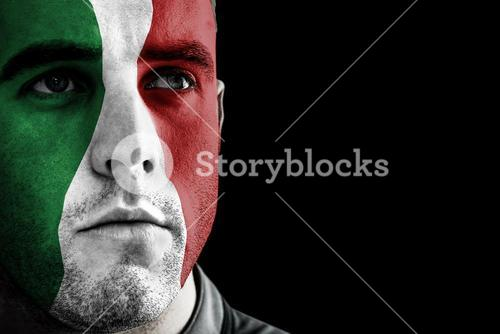 Composite image of italy rugby player