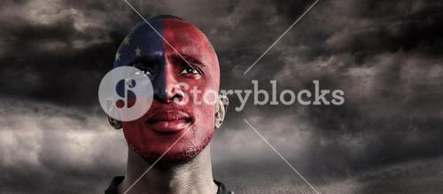 Composite image of samoan rugby player