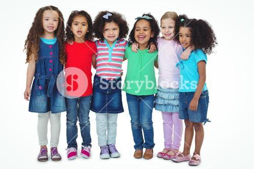 Small group of kids standing together