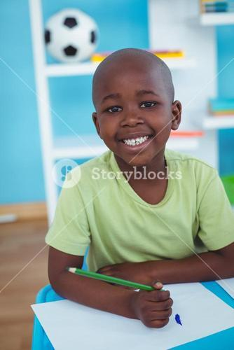 Happy kid enjoying arts and crafts together